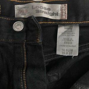 Black distressed Levi's Shorts